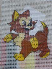 Cheeky Cat Printed 6 Count Binca Cross Stitch Kit